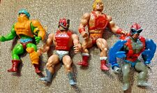 4 VTG '80s MOTU Masters Universe Figures: Zodac/Stratos/Man at War/Punch He-Man