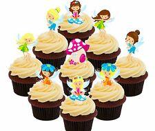 Fairy Party 36 Edible Cupcake Toppers Cake Bun Decorations Girl Birthday Fairies