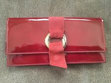 AUTHENTIC CARTIER TRINITY LONG WALLET RED PATENT LEATHER NEW FREE SHIPPING!