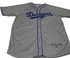 DON NEWCOMBE #36 LOS ANGELES DODGERS 1956 THROWBACK GIVEAWAY JERSEY MEN Medium