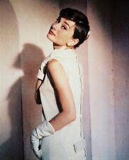 "AUDREY HEPBURN wearing white dress & gloves Photo 11x14"" great gift idea 213608"
