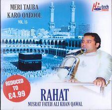 RAHAT NUSRAT FATEH ALI KHAN QAWAL -VOL 15 -MERI TAUBA KARO QABOOL - BRAND NEW CD