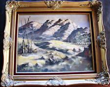 "Australian Artist Arthur Hamblin original oil titled ""Parachilna Hills"""