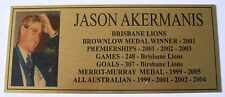 JASON AKERMANIS Gold  Plaque F/Post