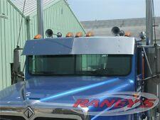 "International 9200 9300 9400 9900 13"" Drop Visor Flat Windshield Stainless Steel"