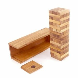 30cm Stained Hardwood Australian Jenga Tumbling Tower Board Game