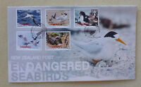 2014 NEW ZEALAND ENDANGERED SEABIRDS SET OF 5 STAMPS FDC FIRST DAY COVER