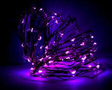 100 LED Micro Drahtlichterkette Lichterketter weihnachtsdeko Innen & Aussen Lila