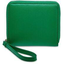 BNWT Authentic LIZ CLAIBORNE Zip Around Small Wallet Wristlet Green