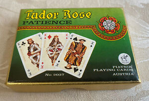 Tudor Rose Patience - Vintage Playing Cards - Small - 1 Pack still sealed