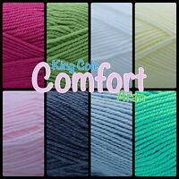 King Cole Comfort Aran Weight Soft Baby Easy Care Knitting Wool Yarn 100g Ball