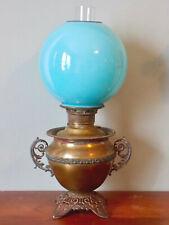 E. Miller JUNO KEROSENE TABLE LAMP - GWTW - Blue Ball Shade- Complete & Original