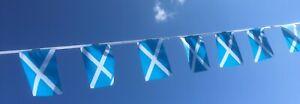 Scotland Saltire Euro Football Fabric Bunting - Free 1st Class Post