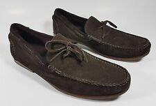 M & S Collezione mens brown suede leather loafers uk  9.5