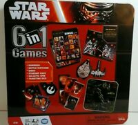 Disney Star Wars Force Awakens 6 in 1  Games  Collector Tin Bingo Dominoes Etc