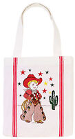 1950's Retro Style Little Cowboy Tote Bag 12x14X2 inches