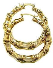 Bamboo Hoop Earrings 14k gold fill /2.25inch dmtr/ Hollow tube Huge Hoop earring