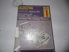 Austin Maxi 1500 & 1750 Owner's Workshop Manual (Haynes)