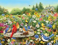 The Gathering Songbirds & Flowers Spring 500 pc Jigsaw Puzzle Springbok 33-01546