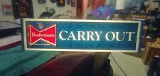 """""""Rare"""" Budweiser King of Beers light up bar sign carry out anheuser Busch Nice"""