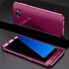 Hülle Lila für Samsung Galaxy S10 Plus Schutz Integral 360 Spiegel +Folie