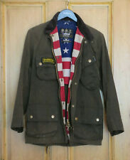 £269 Rare Mens Barbour Steve McQueen Washington olive wax jacket size S Small 36