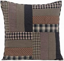 """26"""" Euro Sham Black Red Hand Quilted Patchwork Floor Pillow Cover Bingham Star"""