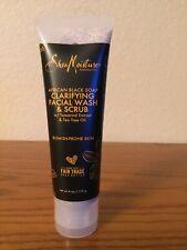 Clarifying Facial Wash & Scrub, African Black Soap,  4 oz (113 g)