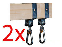 TWO Square 90mm SWING HOOK galvanised steel swing set climbing frame