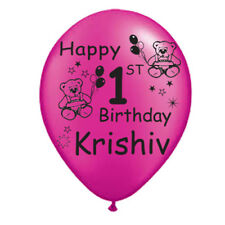50 X 1ST BIRTHDAY  CUSTOM PRINTED BALLOONS WITH NAME