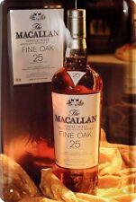 Escudo de chapa 20x30 Macallan un whisky de malta escoces whisky whisky metal bar escudo