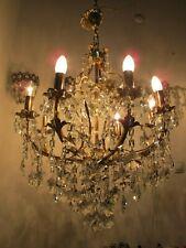 Antique Vnt Gigantic 8 arms Swarovski Crystal Chandelier Lamp Light 1960's RR