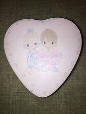 "Precious Moments ""God Is Love Dear Valentine "" Keepsake Heart Tin 895091 From 87"