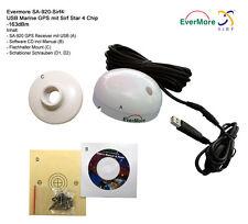 48 Channel USB Marine GPS Receiver Evermore SA-920 NMEA 0183 Laptop -163dBm SIRF