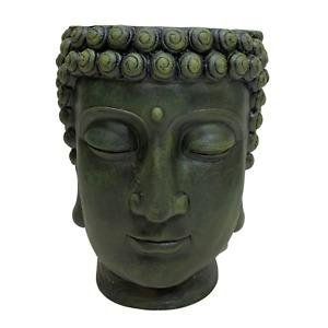 1pce 42cm Garden Buddha Pot Planter Head Resin Outdoor Rulai Cute