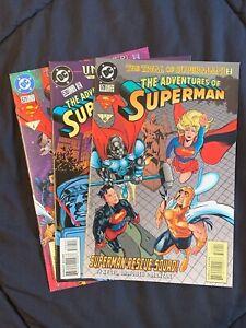 Adventures of Superman #'s 529 - 531 DC Comics 1995