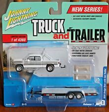 2018 JOHNNY LIGHTNING Truck and Trailer 1996 DODGE RAM with CAR TRAILER VersionB