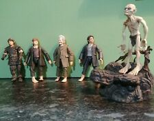 Nlp Marvel Ent Lord Of The Rings Lotr 00004000  Lot Of 6 Figures Frodo Bilbo Gollum