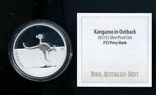 Australia 2013 1 oz Pure Silver Kangaroo in Outback Fabulous F15 Privy  DCB892