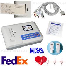 Fedex USA 3 Channel 12 leads ECG Machine PC Software FDA thermal printer ECG300G