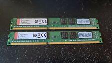 8GB ( 2 x 4GB ) PC3-10600 DDR3-1333 MHz NON ECC RAM KINGSTON KCP313NS8/4