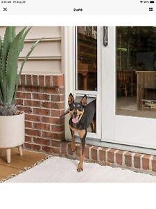 PetSafe Sliding Glass Small Dog/Cat Door Insert Great for Rentals & Apts. NIOB