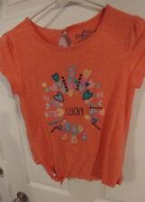 Girl's, Lucky Brand, Shirt, Short Sleeve, Pink, Teen, Size XL