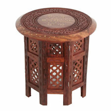 Oriental Moroccan side table Indian sheesham Wood Nail Large