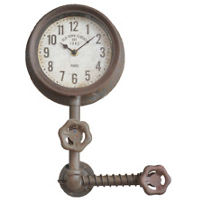 'Old Town Clocks' Single Clock with Industrial Pipework Quirky Metal Wall Mounte