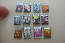 1/12th dolls house - FLOWER SEED PACKETS  - SG