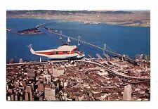 Vintage Postcard SAN FRANCISCO & OAKLAND HELICOPTER AIRLINES SIKORSKY S-62