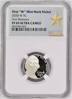 2020 FIRST W PROOF NICKEL, NGC PF69 UC, FIRST RELEASES, STAR LABEL, PRE-SALE