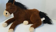 """Large Collector's Choice Dandee PINTO HORSE 24"""" Brown Plush Stuffed"""