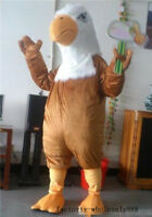 Brown Bald Eagle Mascot Costume Advertising Fancy Dress Cosplay Adults Parade UK